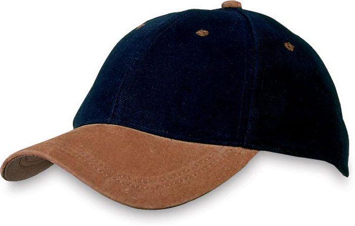 Černá čepice s koženým kšiltem