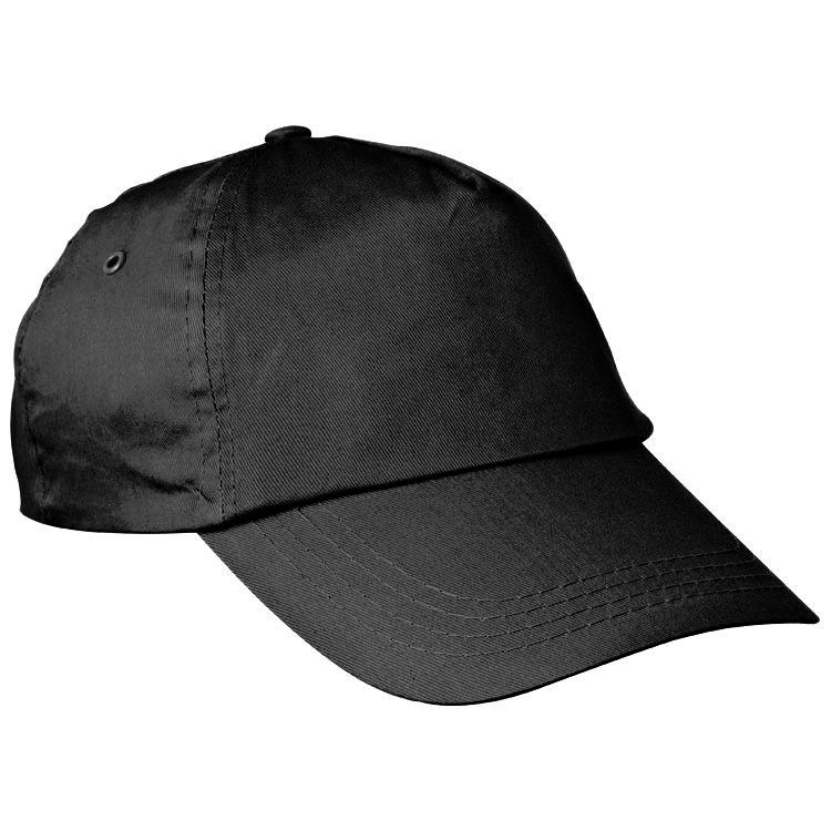 Černá bavlněná čepice