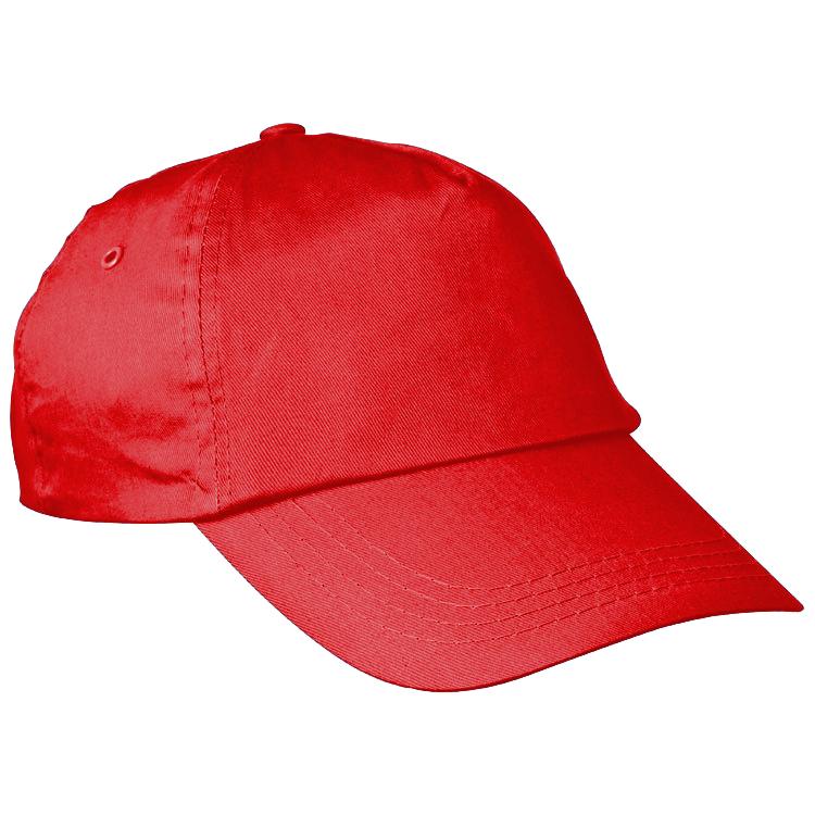 Červená bavlněná čepice