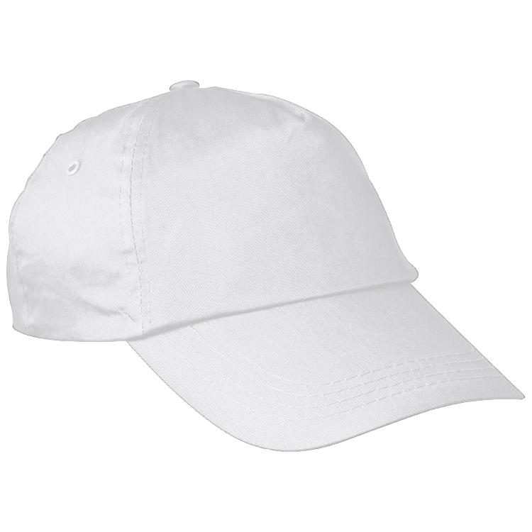Bílá bavlněná čepice