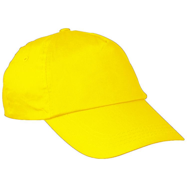 Žlutá bavlněná čepice