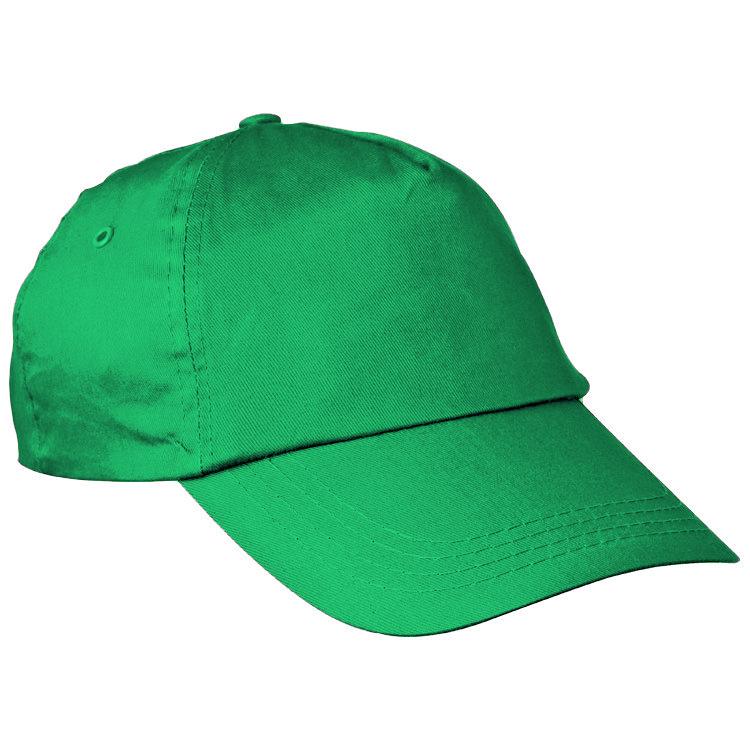 Zelená bavlněná čepice