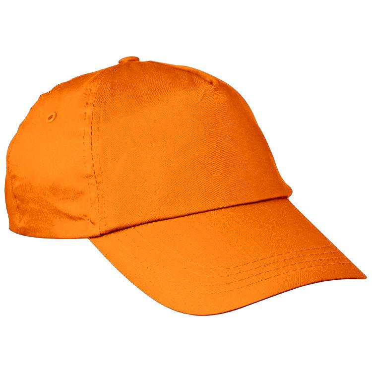 Oranžová bavlněná čepice