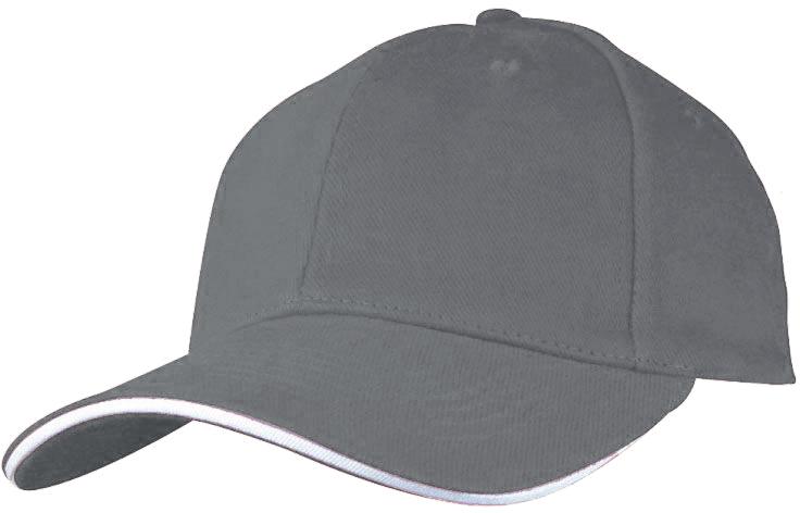 Baseballová šedá čepice