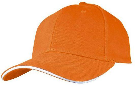 Baseballová oranžová čepice