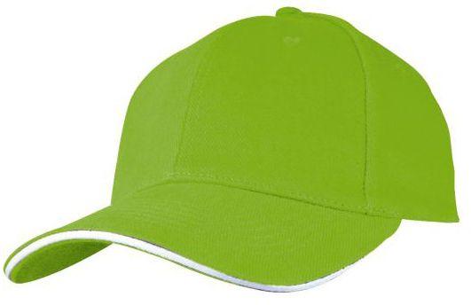 Baseballová zelená čepice s potiskem