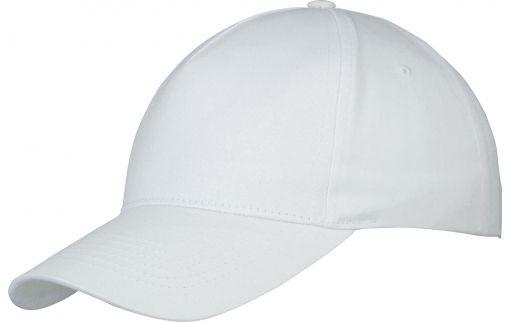 Memphis čepice 5 panelů bílá s potiskem