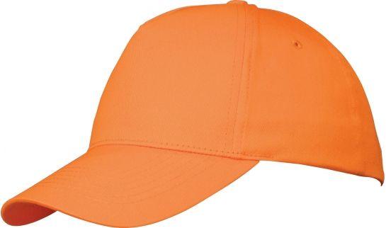 Memphis čepice 5 panelů oranžová