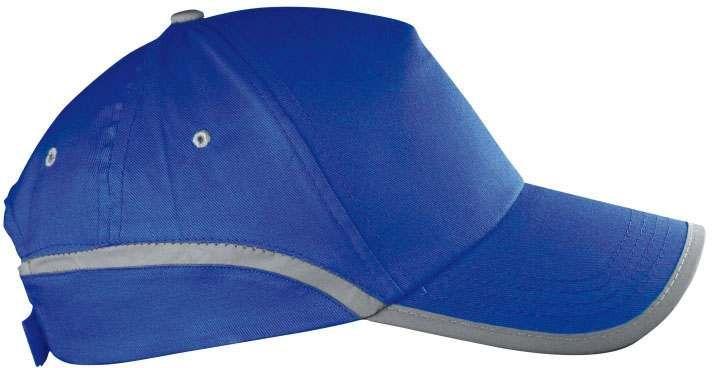 Modrá reflexní čepice
