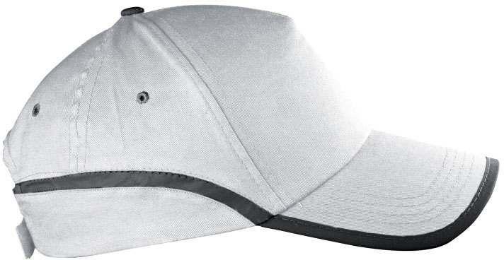 Bílá  reflexní čepice s potiskem