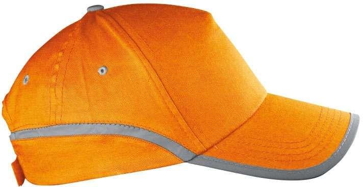 Oranžová reflexní čepice