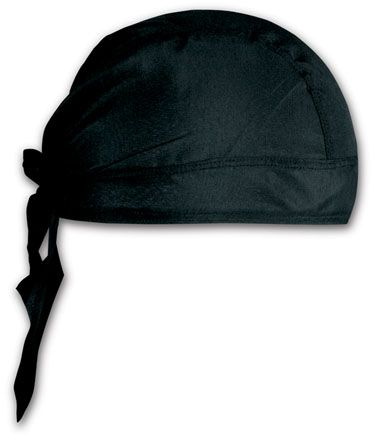 Černý šátek na hlavu