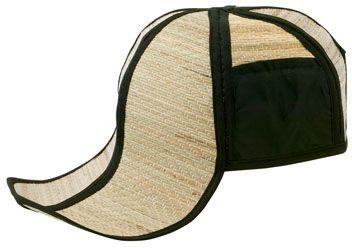 Černá plážová čepice