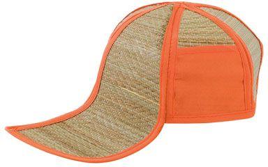 Oranžová plážová čepice