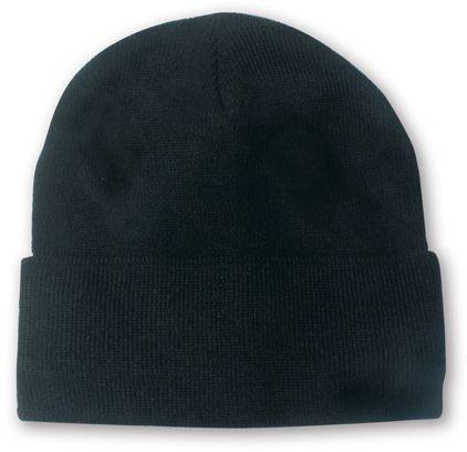 Lana černá zimní čepice