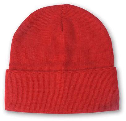 Lana červená zimní čepice s potiskem