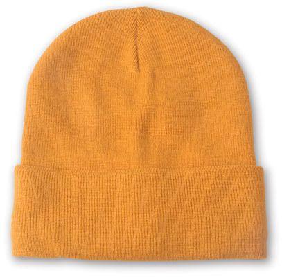 Lana oranžová zimní čepice
