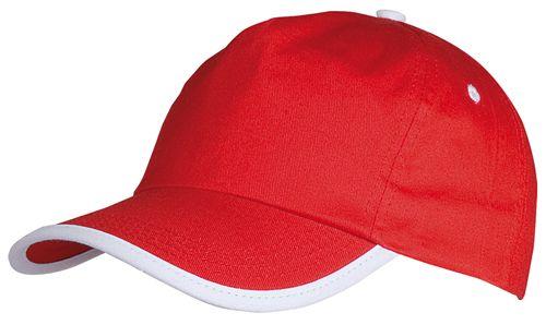 Basebalová čepice červená s potiskem