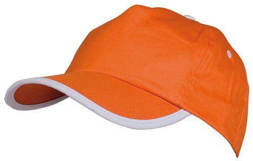 Basebalová čepice oranžová