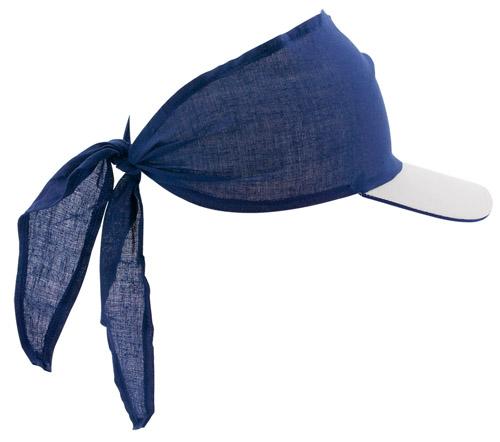 Inlady modrý šátek s kšiltem