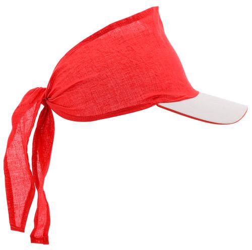 Inlady červený šátek s kšiltem
