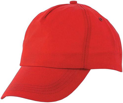 Sport červená baseballová čepice