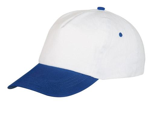 Sport bílo-modrá baseballová čepice