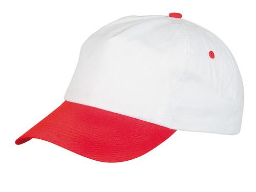 Sport bílo-červená baseballová čepice