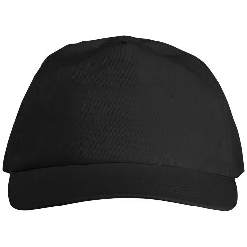5panelová bavlněná čepice Basic černá