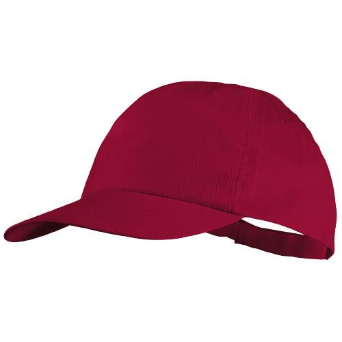 5panelová bavlněná čepice Basic červená