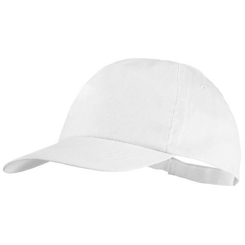 5panelová bavlněná čepice Basic bílá