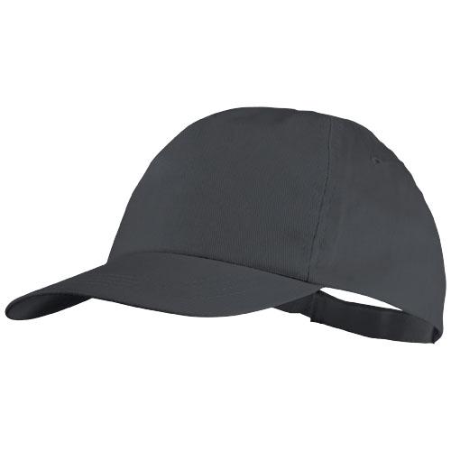 5panelová bavlněná čepice Basic šedá