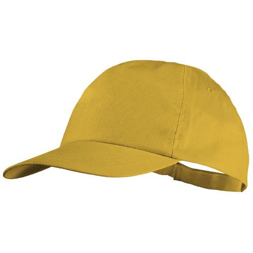 5panelová bavlněná čepice Basic žlutá