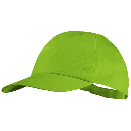 5panelová bavlněná čepice Basic zelená