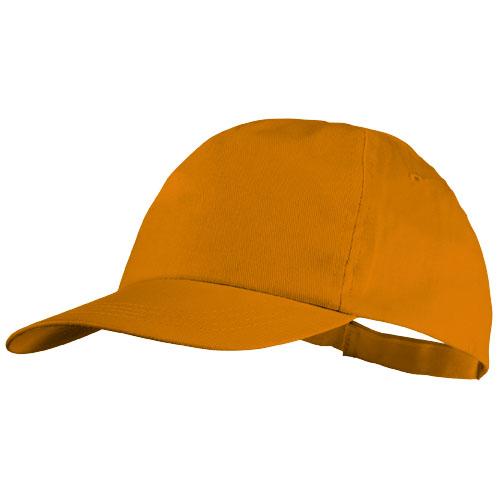 5panelová bavlněná čepice Basic oranžová