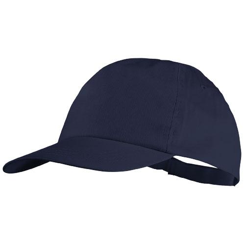5panelová bavlněná čepice Basic světle modrá