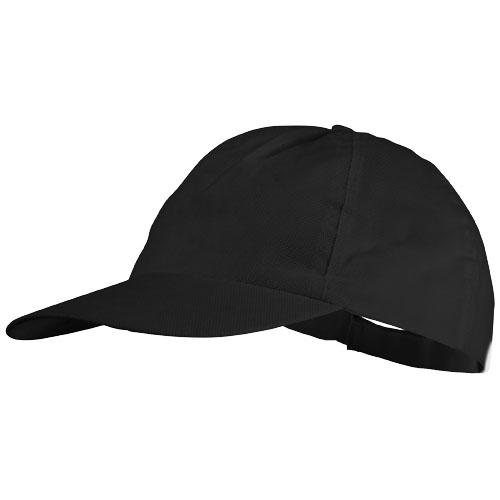 5panelová čepice Basic netkaná černá