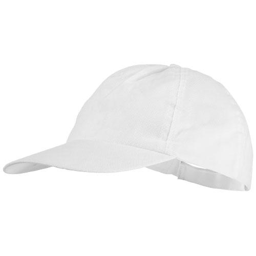 5panelová čepice Basic netkaná bílá
