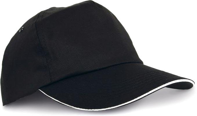 Kšiltovka světle černá