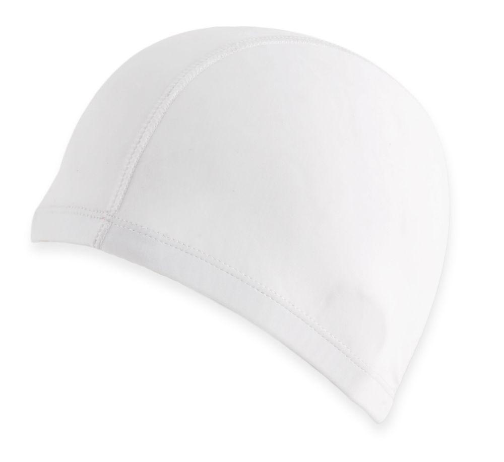 Čepice na plavání bílá s potiskem