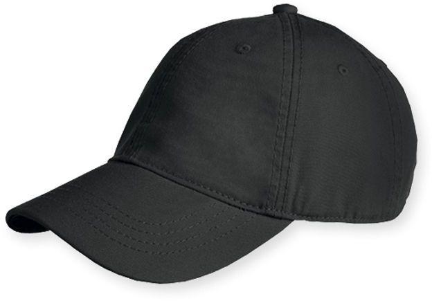 HEDER bavlněná baseballová čepice, plastová spona, 6 panelů, černá