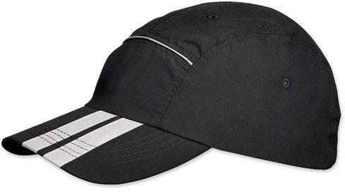 SIGY polyesterová baseballová čepice, reflexní doplňky, suchý zip, černá