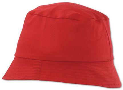 Červený plážový klobouček Marvin
