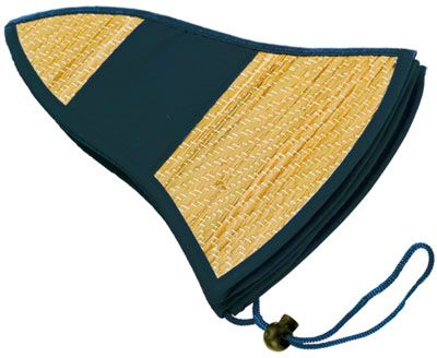 Černý plážový klobouk