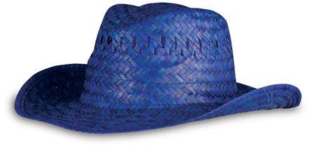 Modrý plážový klobouk