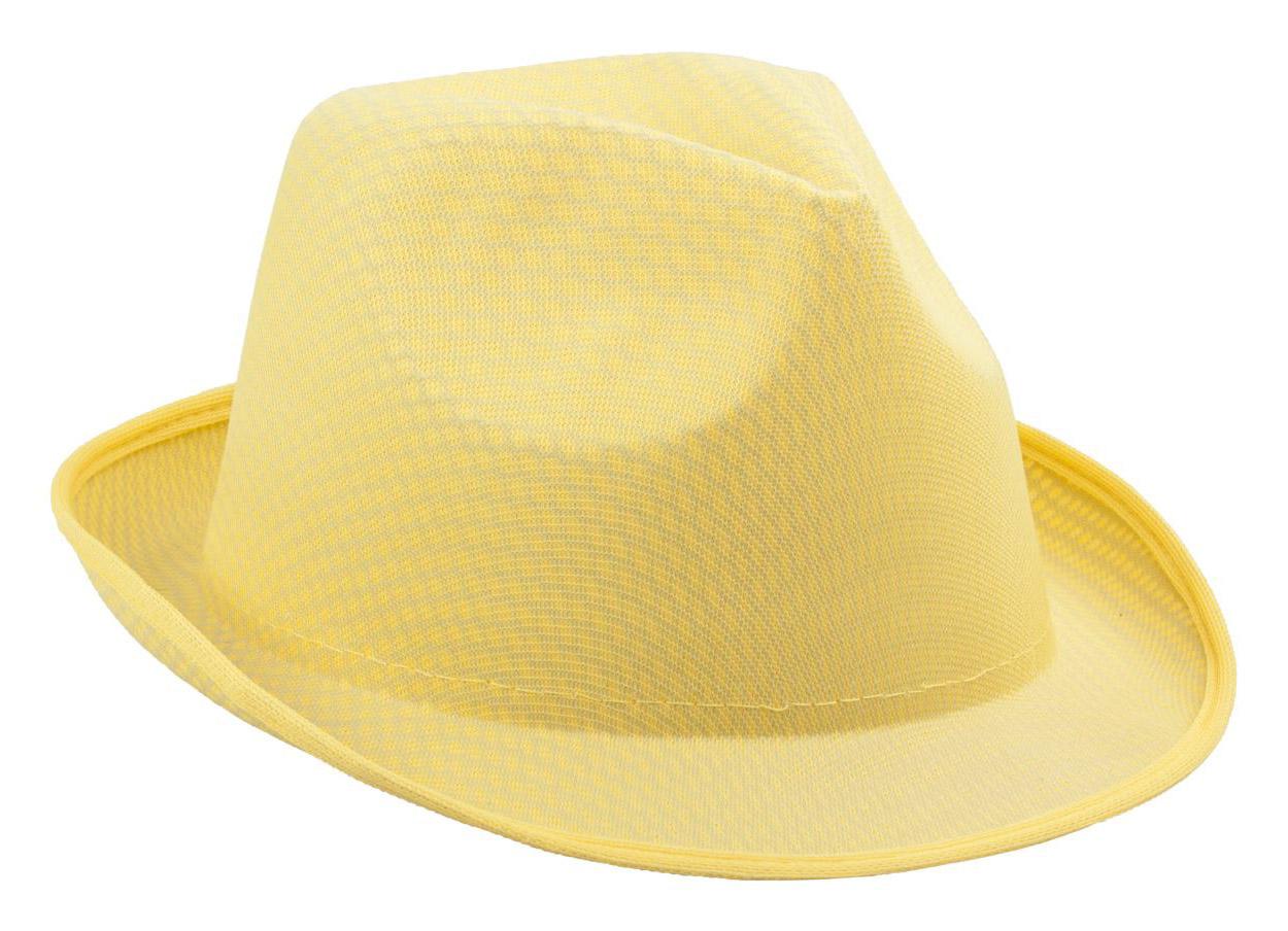 Klobouk žlutý