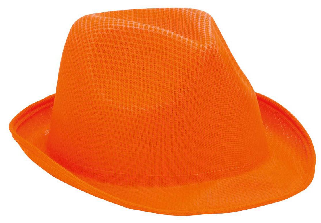 Braz  oranžový klobouk