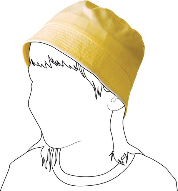 Bavlněný klobouk pro děti žlutý