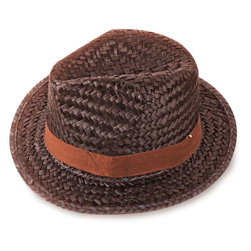 Slaměný klobouk hnědý