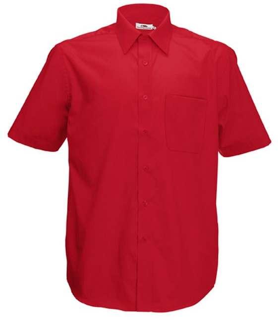 Pánská popelínová košile kr.rukáv Short Sleeve Poplin Shirt
